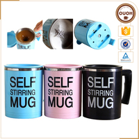 Hot Sale Colorful Stainless Steel Self Stirring Coffee Mug Wholesale