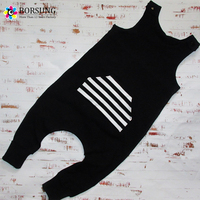 New Style Baby Boys Jumpsuits Cotton Kids Boys Black Harem Pants Romper