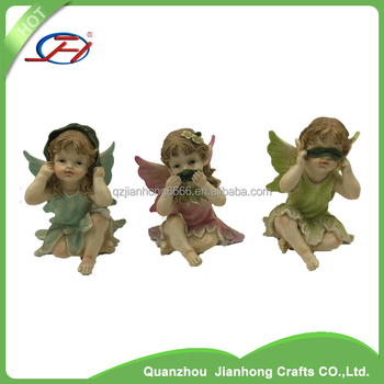 miniature polyresin garden figurine decorative statues resin fairy