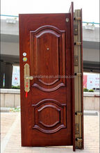 cheap exterior luxury steel wood security door design with high quality