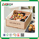 Packing food box with custom LOGO Pine wood box Cake Box