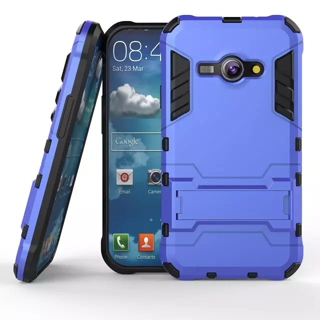 Iron-Bear Stand Rugged Hybrid Armor Phone Case Cover For Samsung Galaxy J1 Ace
