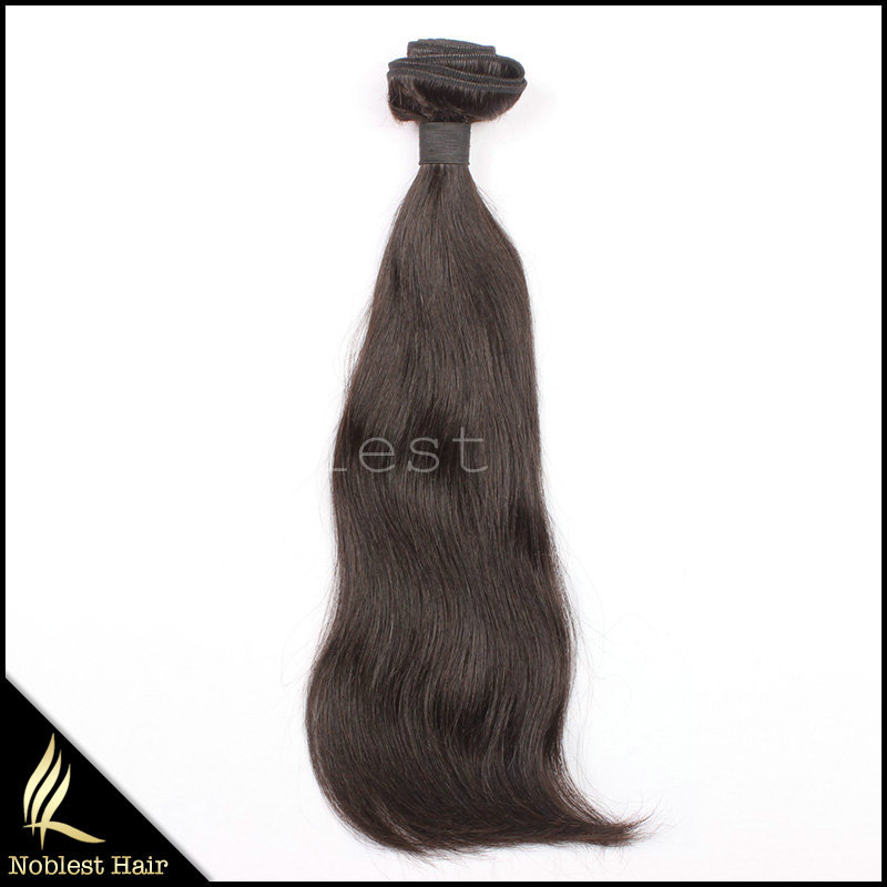 Cuticle Intact Natural Color Raw Unprocessed Malaysian Virgin Human Hair Extension Hair Piece
