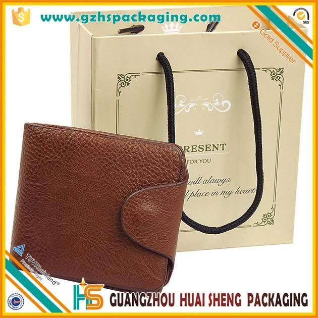wholesale small colored fancy cheap paper purse gift bags with rope handles