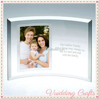 Family Picture Decoration Transparent Curl Glass Photo Frame