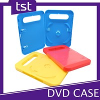 Colorful PP Plastic Single DVD Handle Box