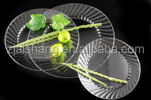 European Fashionable First Rate High Quality food grade premium disposable plastic plates Bpa free