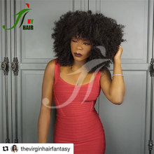 Virgin indian human hair cheap wigs online good quality natural kinky curl short hair wigs for womens