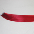 Wholesale Strong tape Colorful Red Chinese Virgin Tape Ins Hair Extensions