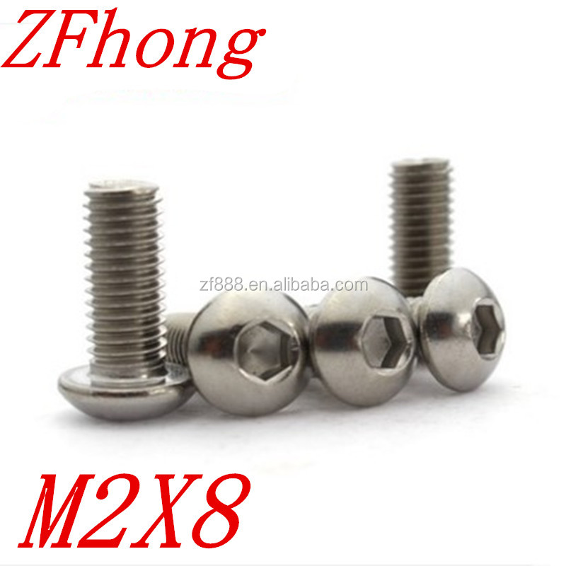 M2*8 M2 x 8mm Stainless steel iso7380 button head hex socket <strong>screw</strong>