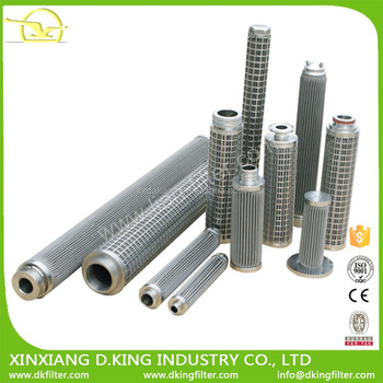 High quality stainless pleated melt oil filter