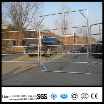 Heavy duty portable galvanized pipe used horse corral panels galvanized and hot dipped galvanized