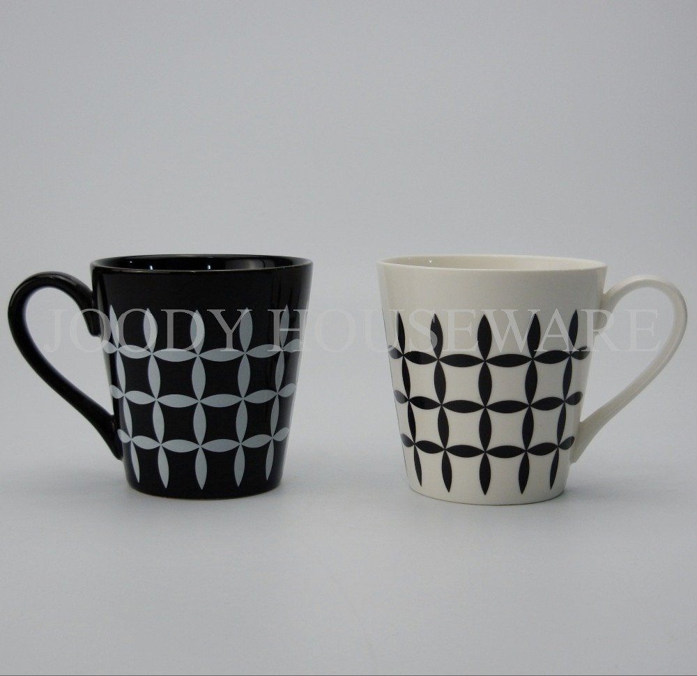 8oz High Quality ceramic grid cup