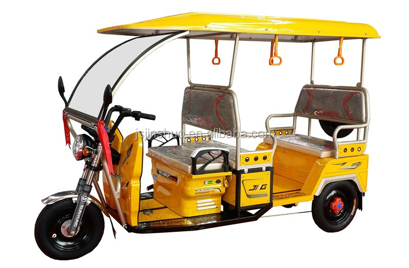 India Electric Tuktuk Taxi Adult E Rickshaw Tricycle With Roof For Passenger Use