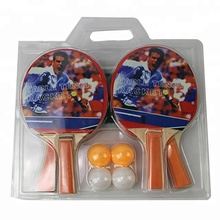 Best Sale Training Table Tennis Rackets Bat Pingpong Ping Pong Racket 4 Balls with net
