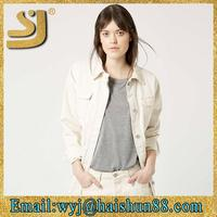 Plain jackets for young women,womens white cargo jackets