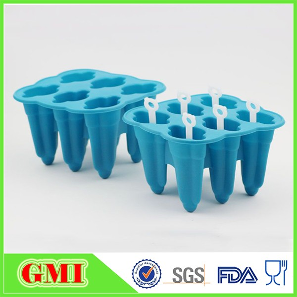 Flexible Durable Silicone Ice Cream bar Mold For Home And Garden