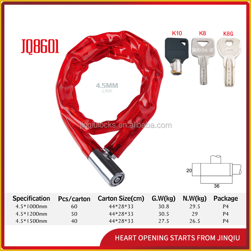 JQ8601 Anti-theft Chain Lock For Bicycle & Motorcycle