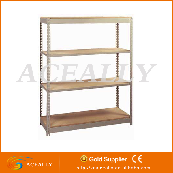 Warehouse Middle duty steel rivet decking shelving