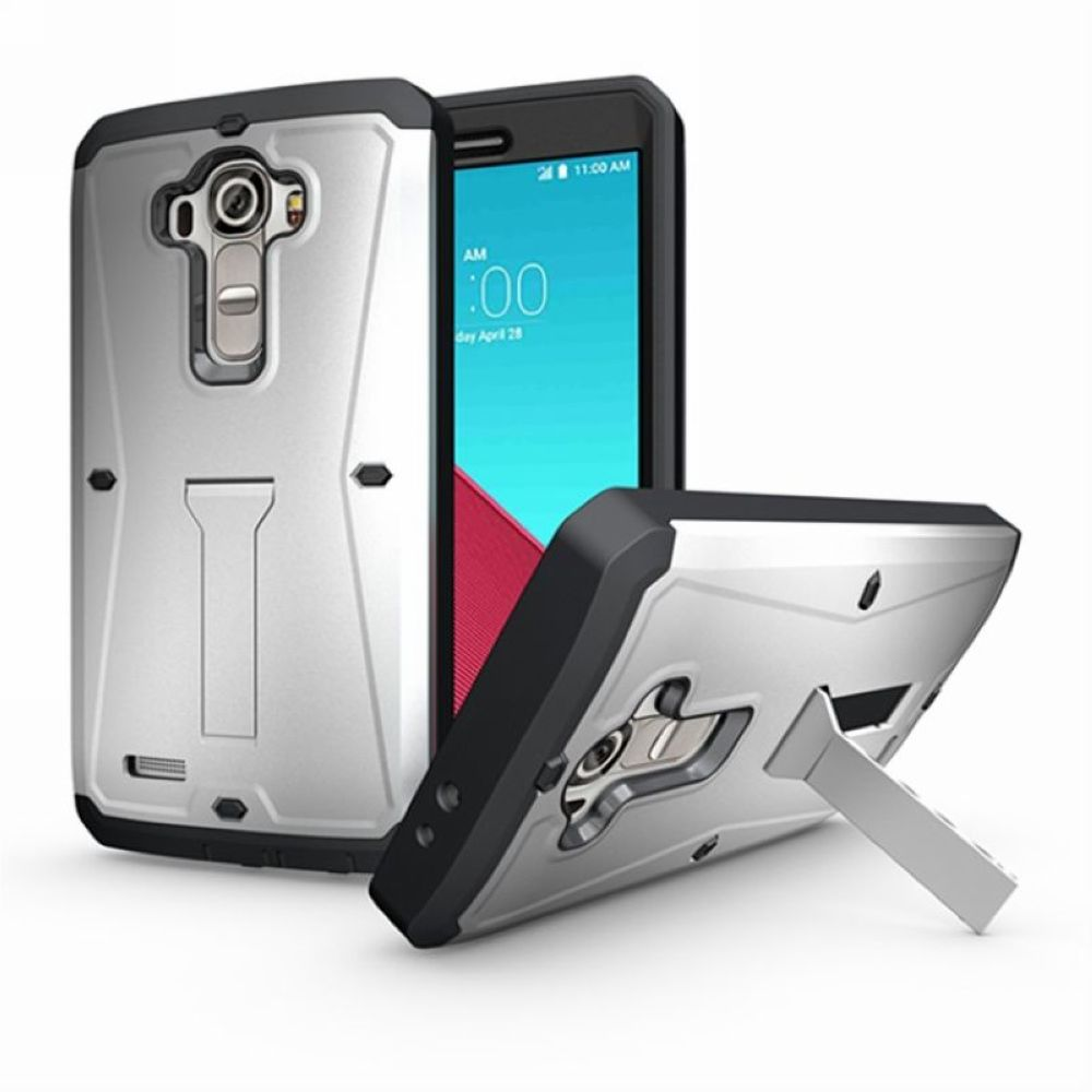 3 in 1 Tank mobile phone case for LG G4, with screen protector kickstand phone case