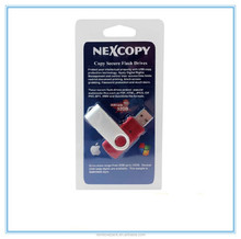 packaging paper card for USB/memory card with Europe hang hole