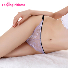 Bulk Wholesale Lace Transparent Panties Seamless Women Sexy Tight Underwear