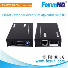 transmitter and receiver HDMI Extender via single CAT5e/6 with Bi-Directional ir and free power adapter
