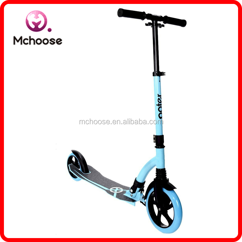 21st New Style 2 big Wheels Best Price 230 mm and 180mm adjust T-bar Folding Kick Scooter For Adult For Wolesale