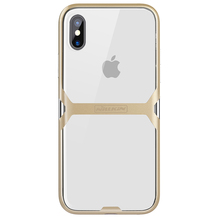 Nillkin new design TPU+colorful PC case Crystal case for iphone X