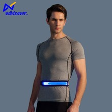 led sports night safety abdominal waist back support belt for men women