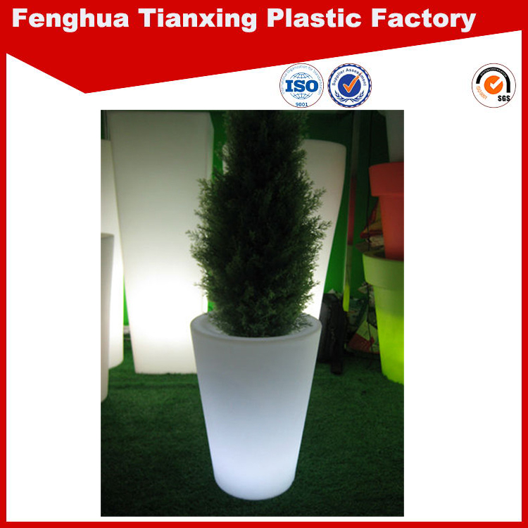 high quality low price led plastic white plant pots