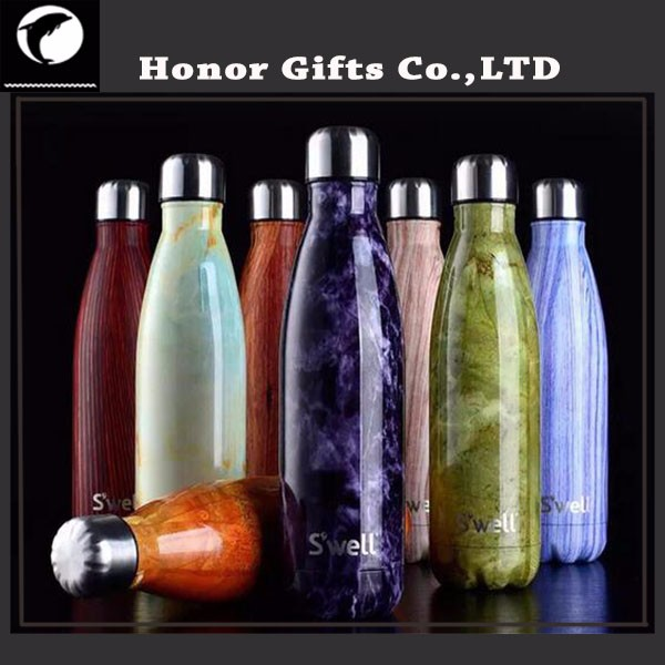 Promotional Custom Logo Printed Sports Stainless Steel Water Bottle
