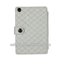 New Design with Checkered Style for Leather Case for iPad mini with Factory Price