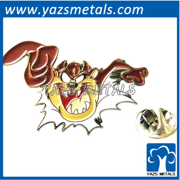 custom high quality Looney Tunes taz lapel pin