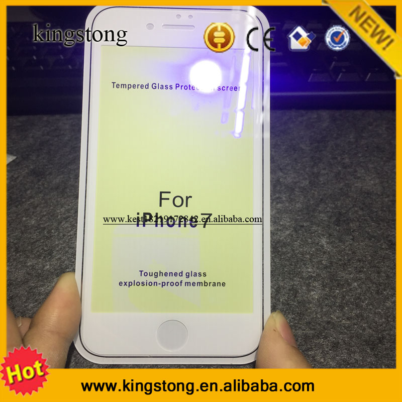 Hot Sold Anti Shock Tempered Glass screen case For Iphone 7 /7 puls 6/6s plus, toughened glass explosion-proof membrance