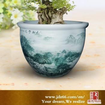 Hand Painted Delicate Design Landscape Ceramic Decorative