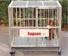 Portable hot sale stainless steel folding dog cage/dog house