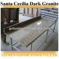 brazil santa cecilia dark gold granite countertops