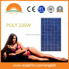 HOT SALE !230W Poly crystalline solar panel with CE TUV EL test for solar system