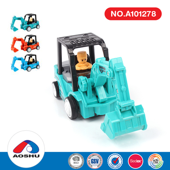 Alibaba fun kids transit inertia engineering vehicle small toy truck with safe