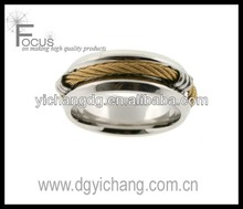 <span class=keywords><strong>in</strong></span> acciaio inossidabile band ring 316l <span class=keywords><strong>oro</strong></span> cavo arrotondato <span class=keywords><strong>finitura</strong></span> lucida 8mm larghezza
