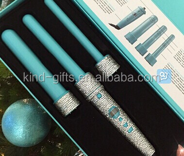 Wholesales Nice Quality Bling Bling Rhinestone Diamond Hair Curling Wand Remover Hair Straightener