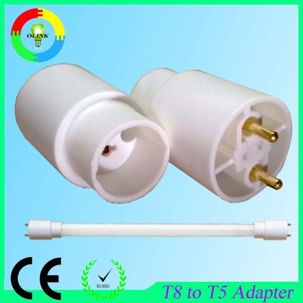 Express energy saving t5 fluorescent lamp holder used in T8 luminaire