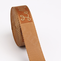 38mm nylon jacquard webbing with logo custom for bag strap
