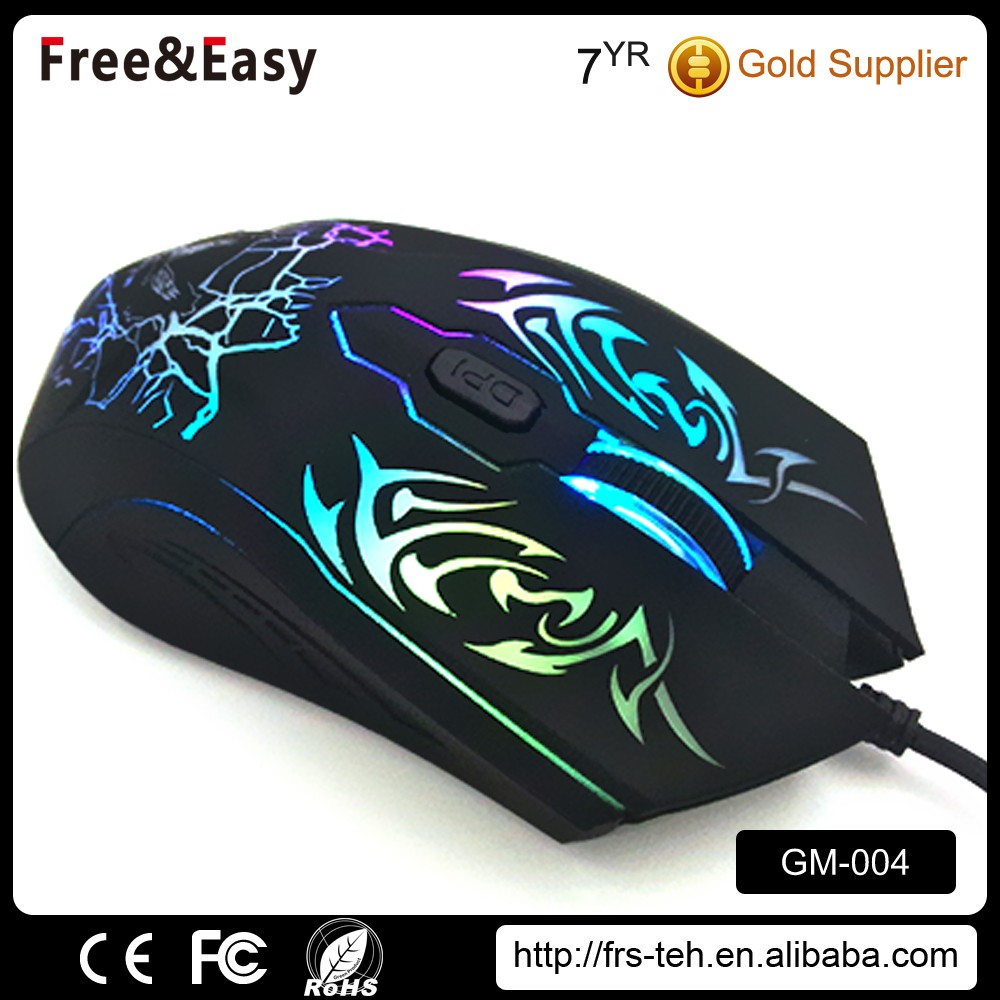 OEM high quality usb receiver optical gaming mouse tested with fcc