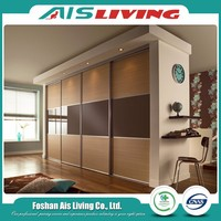 American Style Wooden Laminated Plywood Wardrobe