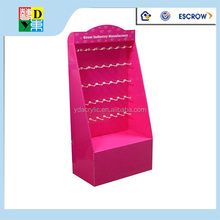 2015 new design pink acrylic cardboard display stand/acrylic cosmetic display stand/acrylic products display stand