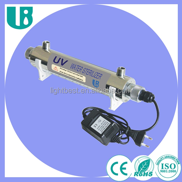 1GPM uv light tubes water sterilizer for Food and beverage facilities
