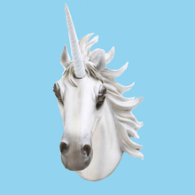 Top Sale Resin Animal Unicorn Head With Tag Wall Mount