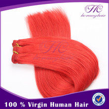 Chinese Imports Wholesale Hot Sale Pink Indian Human Hair Weft Hair